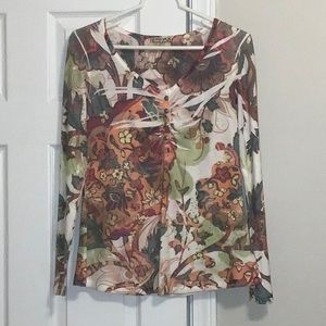 Tops - Energe floral studded long sleeve top - size M